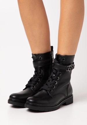MILANO BOOTIE - Snørestøvletter - black