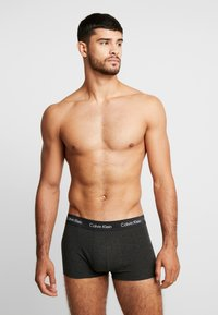 Calvin Klein Underwear - STRETCH LOW RISE TRUNK 3 PACK - Culotte - dark blue/dark red/mottled dark grey - 1