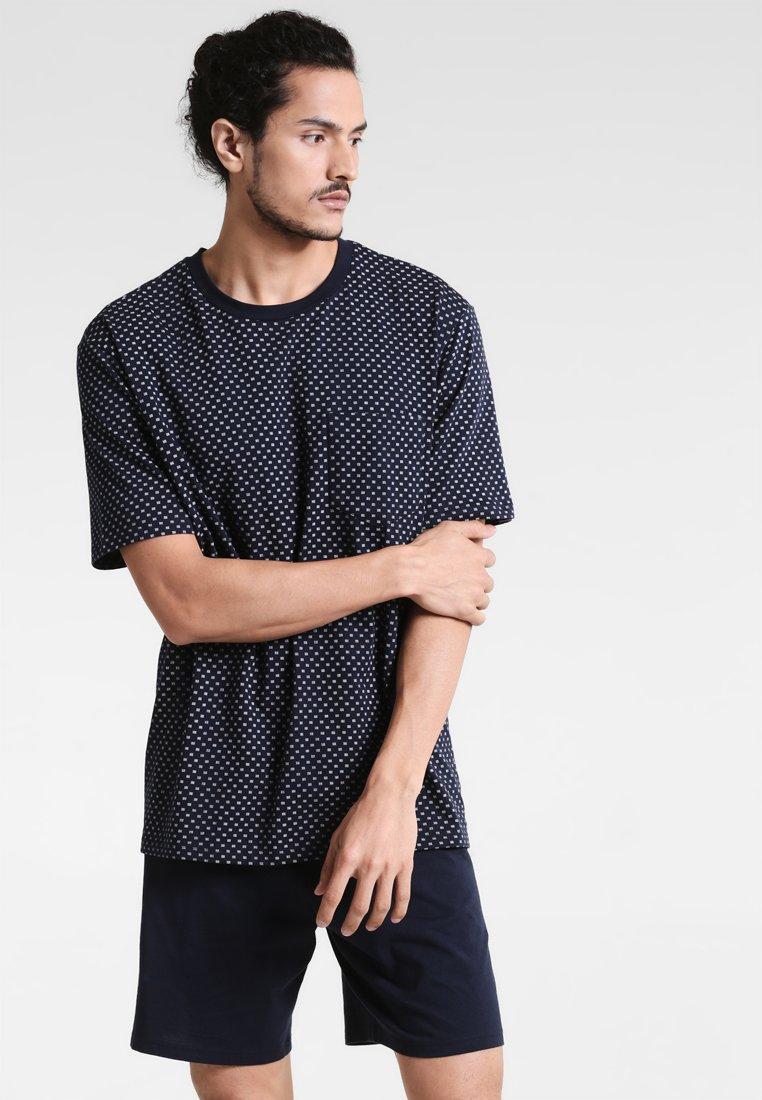 Schiesser - ANZUG KURZ SET - Pyjama set - dunkelblau