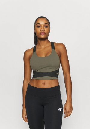 DETERMINATION ACADEMY CROP BRA - Top - khaki