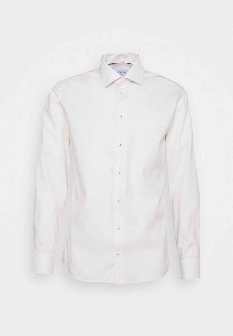 Eton - SLIMOFF FINE DOTTED WEAVE SHIRT - Formal shirt - offwhite