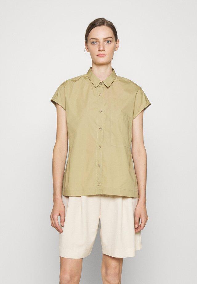 RACHEL - Button-down blouse - green bark