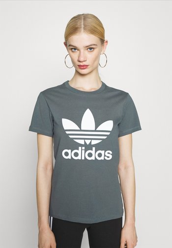 TREFOIL TEE - T-shirt con stampa - blue oxide