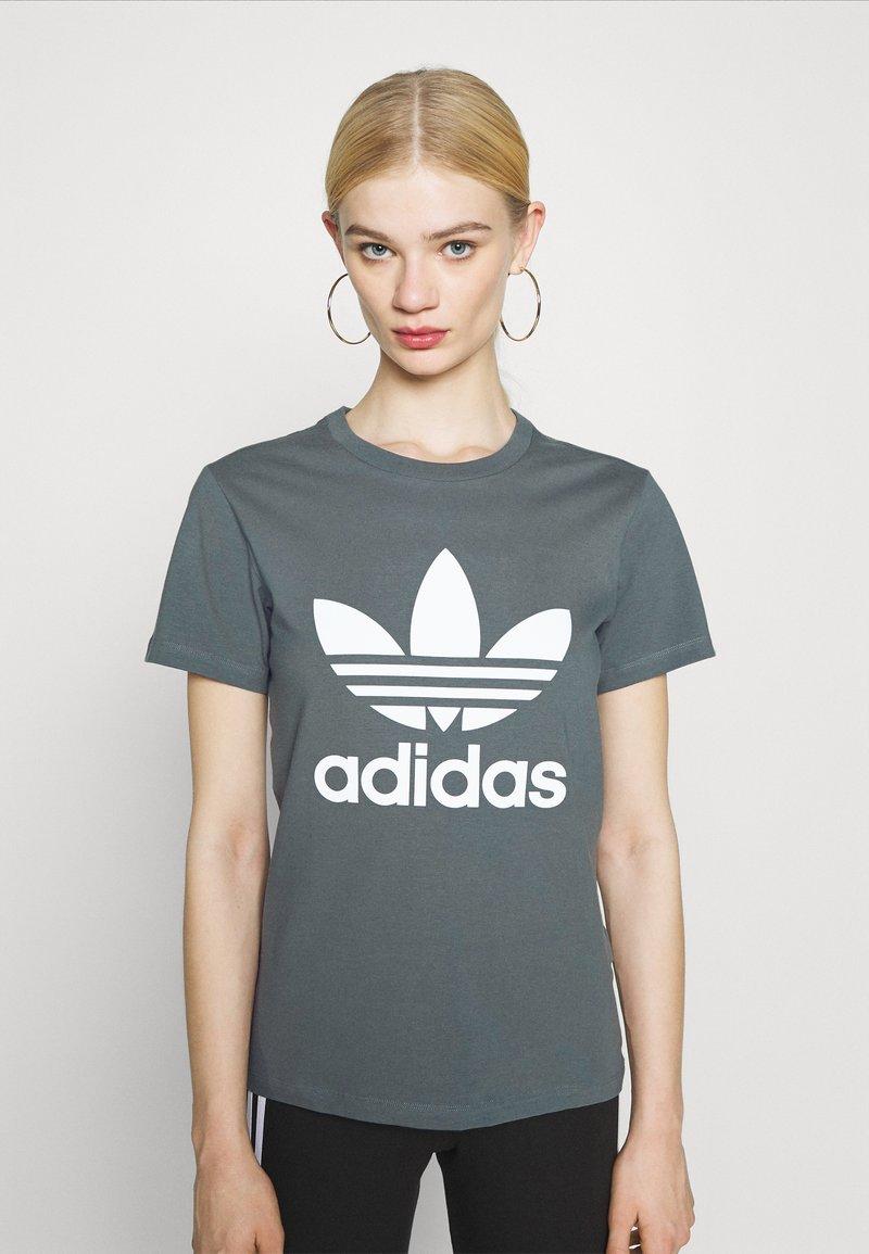 adidas Originals - TREFOIL TEE - T-shirt imprimé - blue oxide