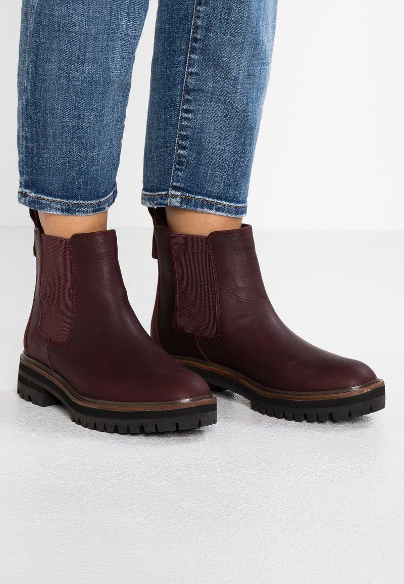 Timberland - LONDON SQUARE CHELSEA - Boots à talons - dark port mincio