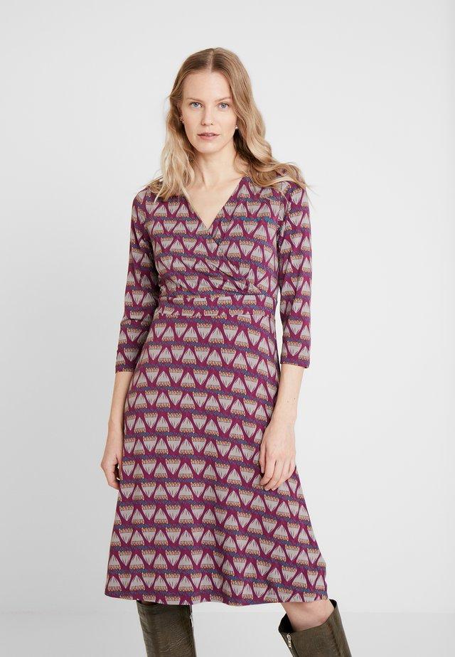 FLORENCE WRAP DRESS LONGER - Day dress - rosy