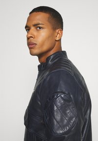 G-Star - HAWORX - Leather jacket - garris washed/mazarine blue - 3