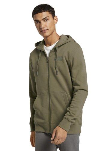 Zip-up hoodie - dry greyish olive
