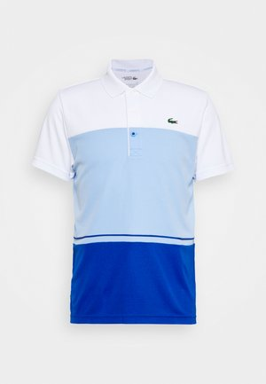TENNIS BLOCK - Polo shirt - white/nattier blue