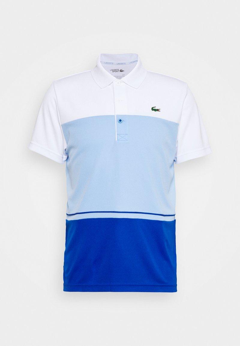 Lacoste Sport - TENNIS BLOCK - Poloshirt - white/nattier blue
