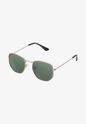 IAN - Occhiali da sole - gold-coloured/green