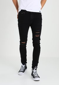 Jack & Jones - JJILIAM JJORIGINAL - Vaqueros pitillo - black denim - 0