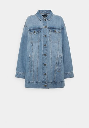 NMFIONA JACKET - Chaqueta vaquera - light blue denim