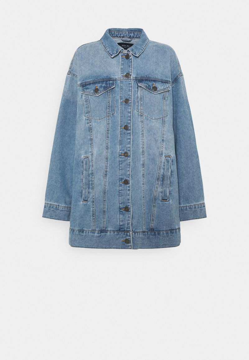 Noisy May - NMFIONA JACKET - Denim jacket - light blue denim