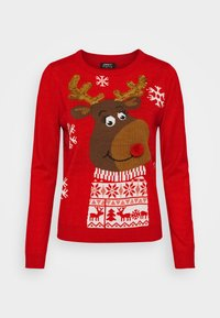 ONLY - ONLXMAS RUDOLF - Jumper - racing red - 3