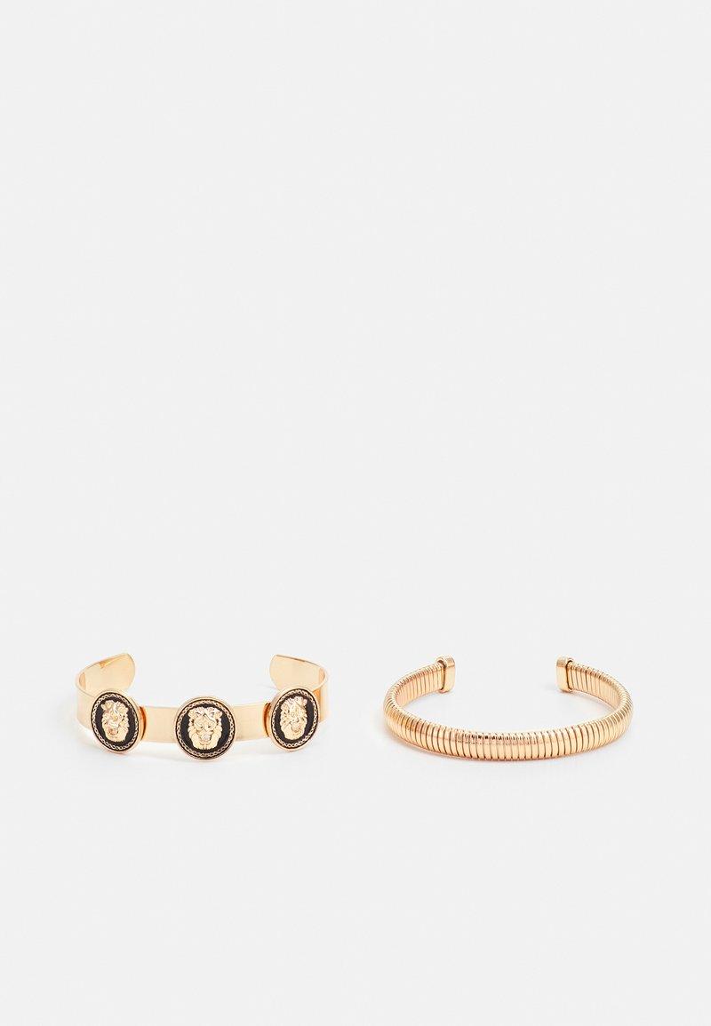 ALDO - ETHARERIA 2 PACK - Bracelet - black/gold-coloured