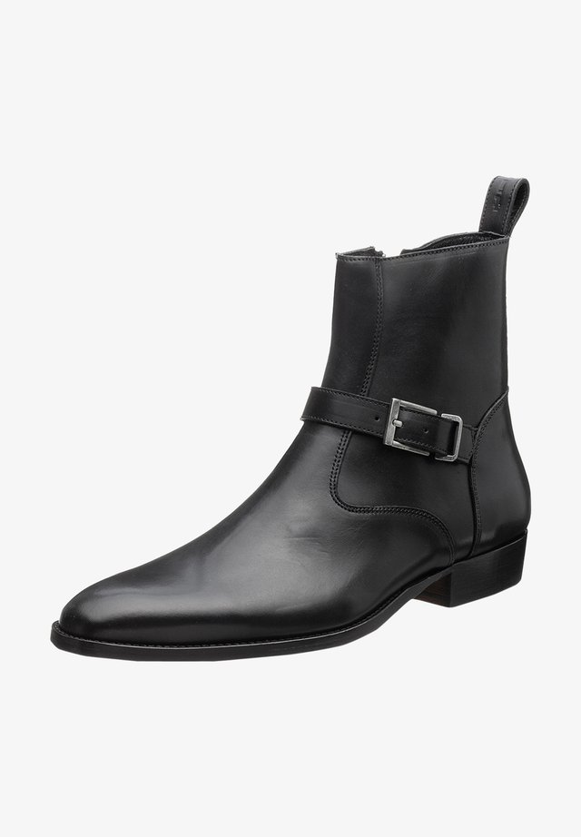 Cowboy-/Bikerlaarsjes - nappa black