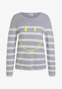 Oui - Jumper - lt grey yellow - 5