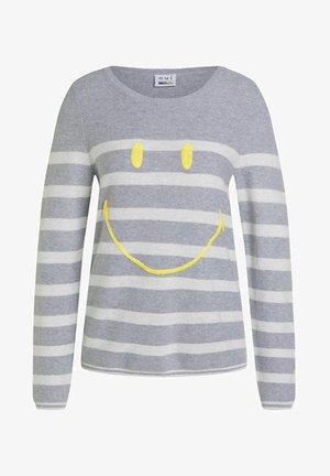 Jumper - lt grey yellow