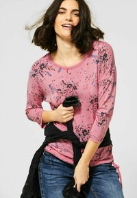 Cecil - MIT BLUMEN - Long sleeved top - rot - 1