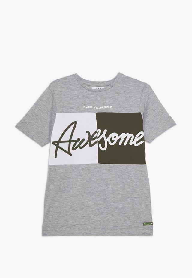 TEENAGER - T-shirt z nadrukiem - grey melange