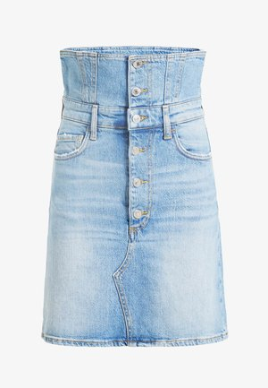 GUESS A-LINIEN-ROCK DENIM - A-line skirt - himmelblau