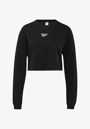 CLASSIC COTTON FOUNDATION CASUAL LONG SLEEVE - Maglietta a manica lunga - black
