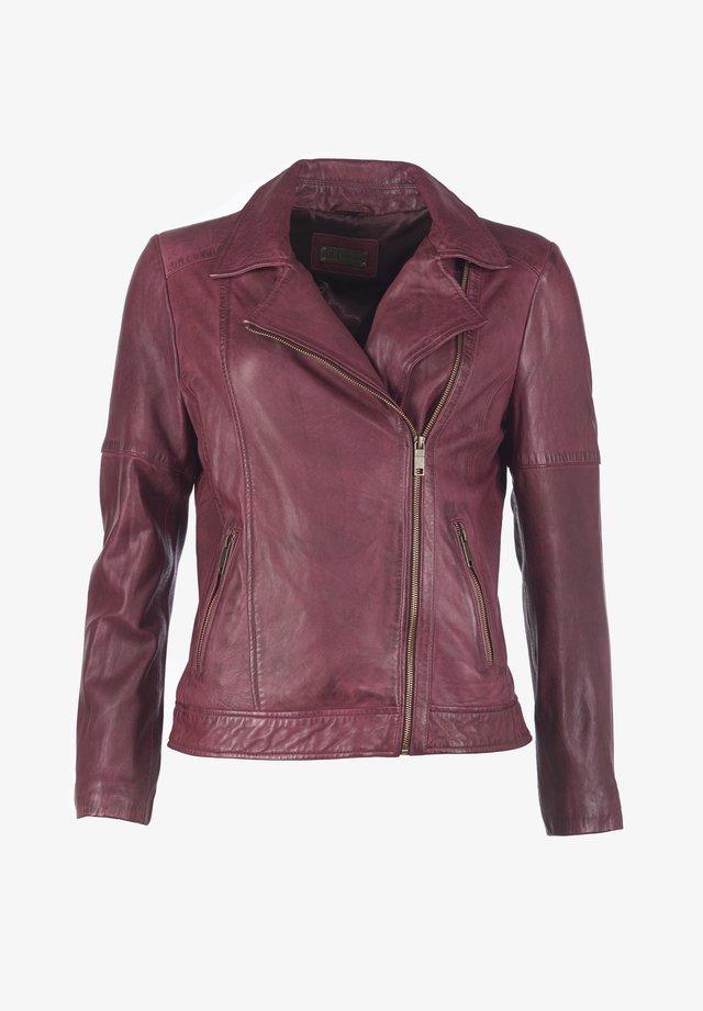 Leather jacket - oxblood