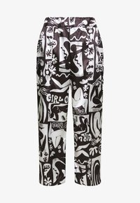 NEW girl ORDER - ABSTRACT TROUSERS - Spodnie materiałowe - black/white - 4