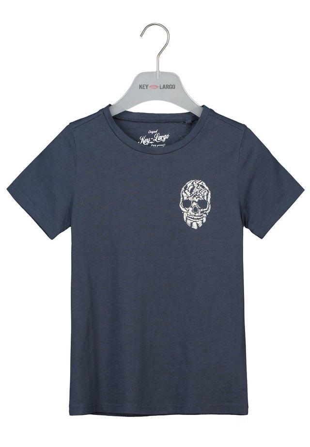 BRONCO  - Print T-shirt - dark blue
