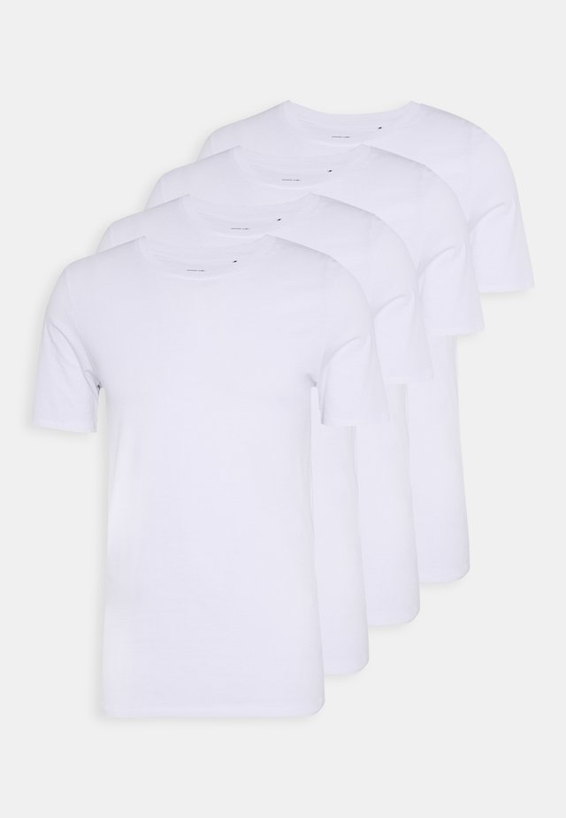 JACBASIC TEE CREW-NECK 4 PACK - Undertrøye - white