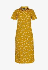 DROP SHOULDER BALLOON SLEEVE MINI DRESS - Shirt dress - beige