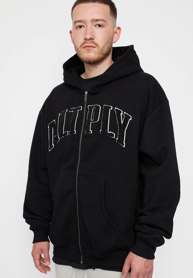 Multiply Apparel - Zip-up sweatshirt - black
