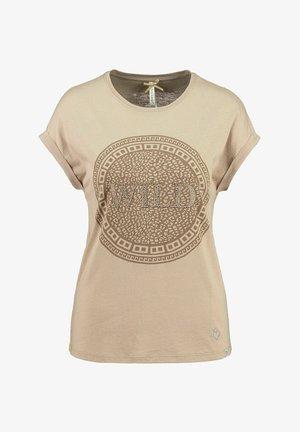 WT CIRCLE - Print T-shirt - sand