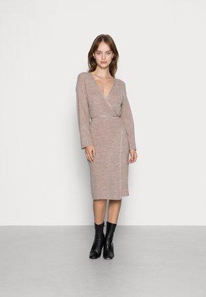 YASBETH WRAP DRESS ICON - Jumper dress - crystal gray ethersa melange