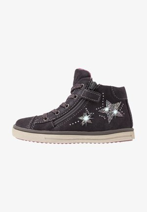 High-top trainers - charcoal