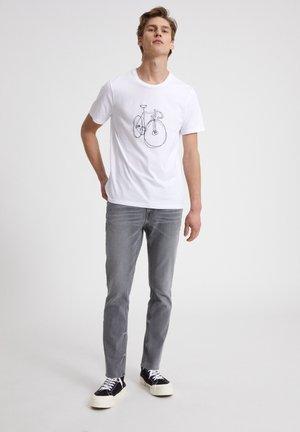 JAAMES SCRIBBLE BIKE - T-shirt print - white