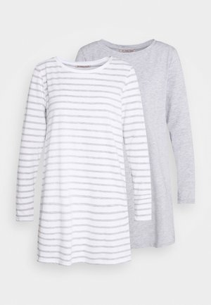 2 PACK - Camicia da notte - light grey