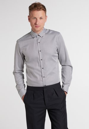 Eterna SLIM FIT - Formal shirt - braun/weiß