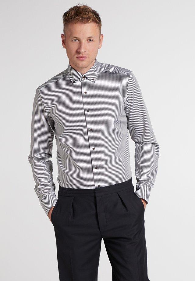 Eterna SLIM FIT - Zakelijk overhemd - braun/weiß