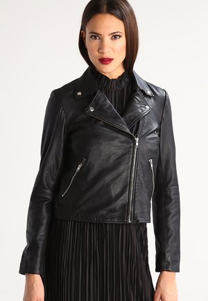 SFMARLEN - Leather jacket - black