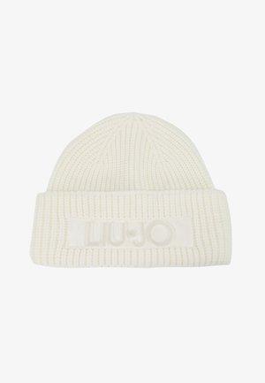 CUFFIA LOGO PUNTO TAPPETO - Bonnet - bianco lana