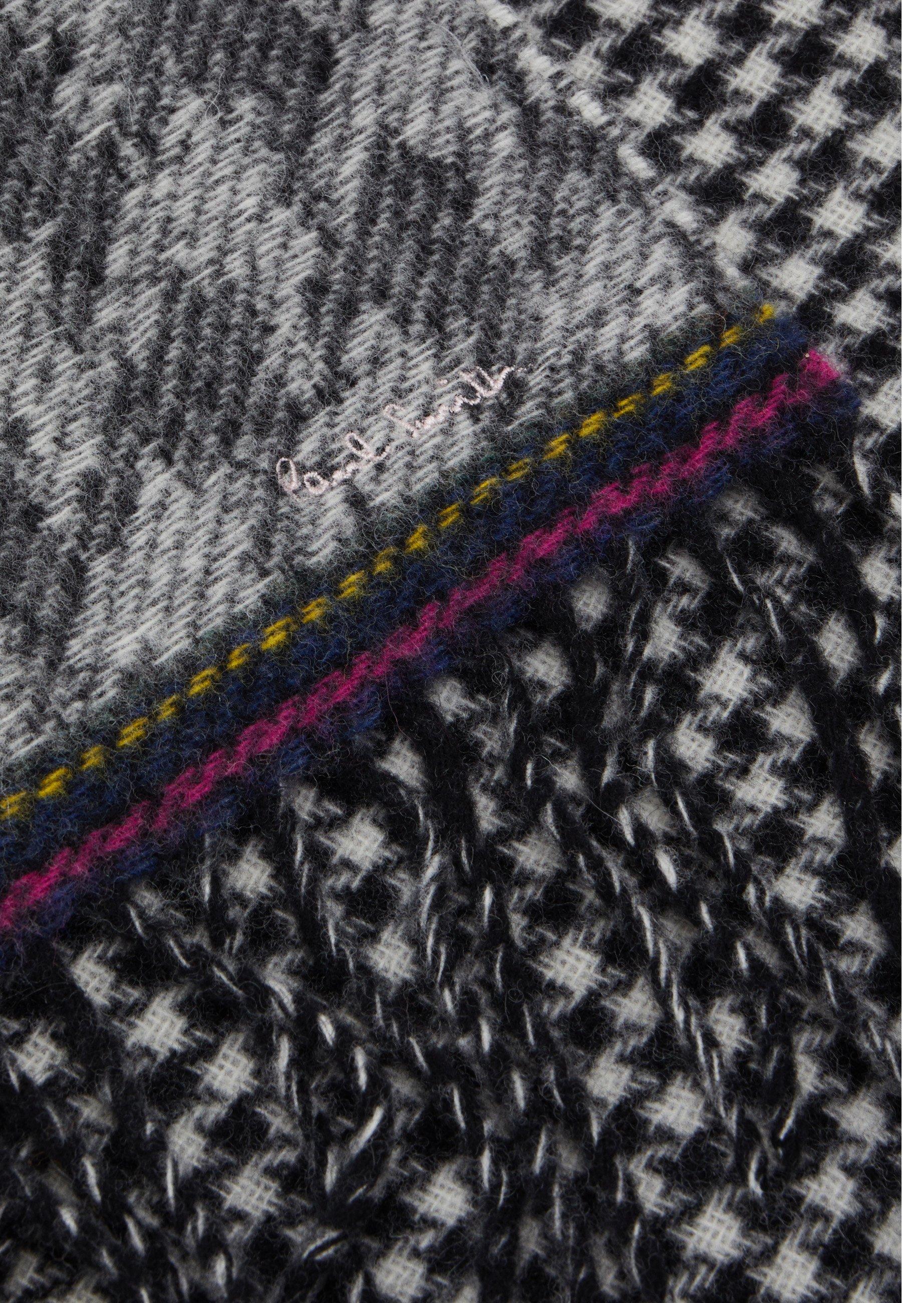 Paul Smith Women Scarf Double Houndstooth - Schal Black/white/pink/schwarz