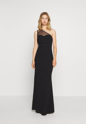 ONE SHOULDER MAXI DRESS - Iltapuku - black