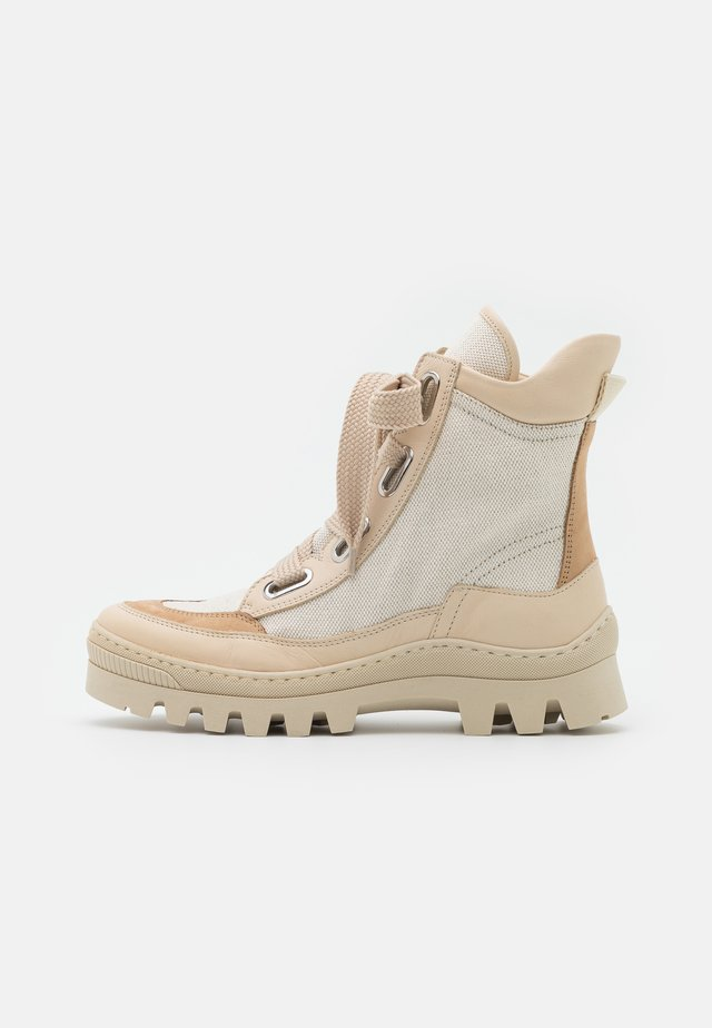 OTAY - Lace-up ankle boots - beige