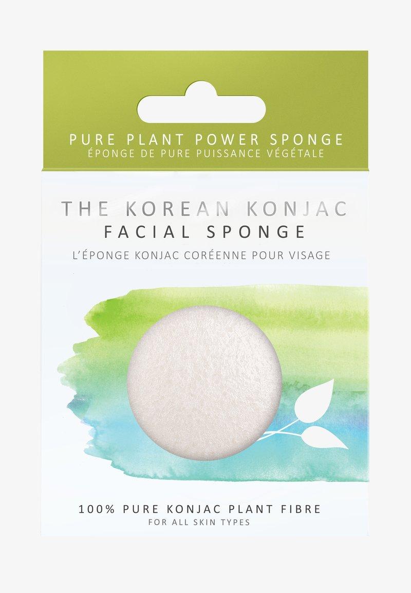 Konjac Sponge - KONJAC FACIAL SPONGE - Skincare tool - white