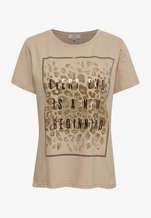 CRYARNA - Print T-shirt - sesame