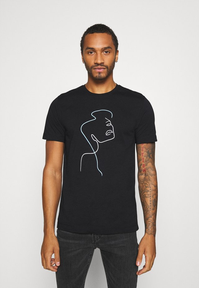FACE SKETCH - T-shirts med print - black