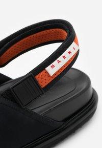 Marni - Sandals - black/fluo oranged - 3