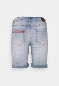 Desigual - FLORAL SHORT - Jeansshorts - blue - 1